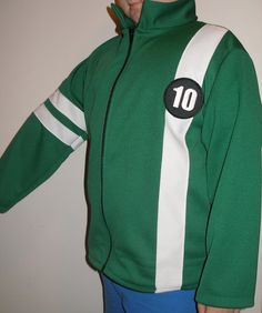 New Ben 10 Knit Jacket With Zipper Costume Size by trudyscustoms, $48.00