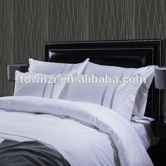 Home Textile White Stripe Bedding Set Queen King 4pcs Quilt Duvet Cover Bedclothes Bed Sheet Set Cotton Bedding Sets