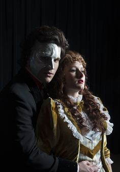 The Phantom (Preston Yates) and Christine Christine (DeLaney Westfall). Fantom Of The Opera, Opera Ghost, The Blues Brothers, Human Soul, Beautiful Songs, Silent Film, Musicals, People, Angel
