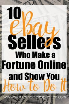 Learn how to make a full-time income online flipping thrift store and garage sale items on eBay. #ebay #onlineselling