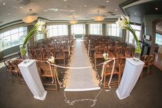Isla Del Sol Yacht and Country Club, St Petersburg, FL, Ceremony Set Up, Indoor Ceremony, Iza's Flowers, Inc.