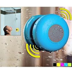 The Waterproof Wireless Bluetooth Shower Speaker is a portable wireless speaker that offers robust sound for your mobile phone, tablet, iPod, laptop, or any other Bluetooth-enabled device.