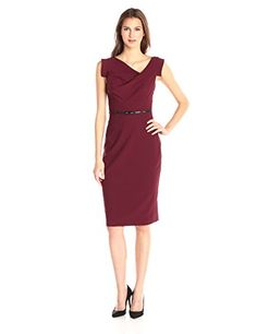 Awesome Black Halo Women's Jackie O Dress Crepe Dress measures 42 inch Dry clean with care