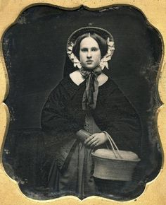 Beautiful woman and daguerreotype, c.1850s.