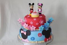 Mickey and Minnie cake for Jack and Madisons bday party!