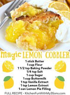 Lemon Dessert Recipes, Lemon Recipes, Desert Recipes, Sweet Recipes, Easy Lemon Desserts, Easy Lemon Pie, Trifle Bowl Recipes, Simple Recipes, 13 Desserts