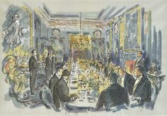 """Set design for dining room in """"Remains of the Day."""""""