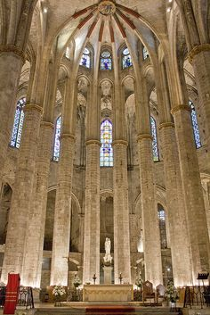 Sta. Mª. del Mar, Barcelona by durandarte, via Flickr
