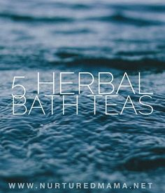 Sometimes you just need a break. Shut that door and give yourself a little self care with one of these easy DIY herbal bath teas. :: www.nurturedmama.net