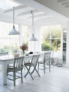 White dining room from Dream Rooms magazine | The Relaxed Home