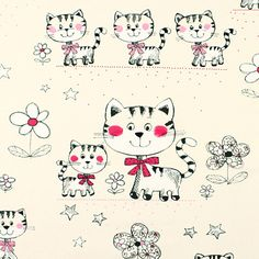 Catblush 2 - pink - Decorator Fabrics Animals - Kids Fabrics - Children's Fabrics Animals - myfabrics.co.uk