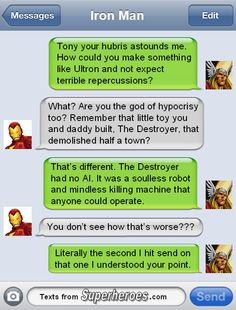 Superhero Texting [Images]