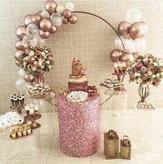 Happy Birthday Decor, Simple Birthday Decorations, Disco Party Decorations, Balloon Decorations, Garden Birthday, 18th Birthday Party, Birthday Table, Diy Birthday, Graduation Party Themes