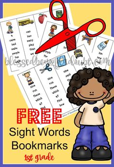 Have a child who is learning sight words? Print these free sight words bookmarks today. Super cute!