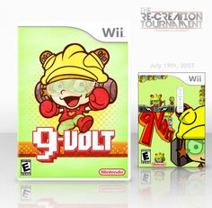 9 Volt Wii Box Art Cover by Eggboy'13 >> i'd buy this if it was an actual game
