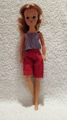 Sindy Active Vintage Sindy Doll 1970s Skater Hat And Scarf Convenience Goods