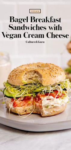 Healthy Vegan Breakfast, Vegan Snacks, Savory Breakfast, Vegan Foods, Vegan Meals, Breakfast Ideas, Vegetarian Recipes Easy, Delicious Vegan Recipes, Beef Recipes