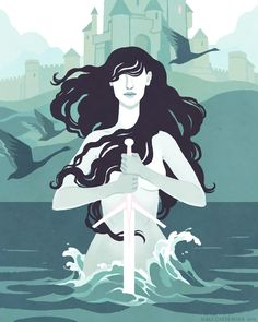 "Kali Ciesemier, ""Lady of the Lake"". Found on her blog!"