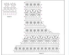 Fabulous Crochet a Little Black Crochet Dress Ideas. Georgeous Crochet a Little Black Crochet Dress Ideas. Gilet Crochet, Crochet Cardigan Pattern, Crochet Stitches Patterns, Crochet Blouse, Stitch Patterns, Knitting Patterns, Crochet Diagram, Crochet Chart, Crochet Doilies