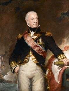 Portrait of Admiral Edward Pellew (1757–1833), 1st Viscount Exmouth, c.1816 by Samuel Drummond (British 1765–1844)....A British naval officer who fought during the American War of Independence, the French Revolutionary Wars and the Napoleonic Wars.....saw some action, then...