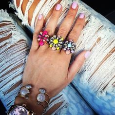 cocktail rings and double rings