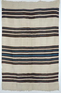 Rio Grande Vegetal Indigo Blanket, c.1870 | Shiprock Santa Fe Santa Fe Plaza, Navajo People, Santa Fe Trail, Indian Blankets, Navajo Rugs, Striped Rug, Native American Tribes, Rio Grande, Woven Rug