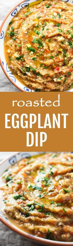 This roasted eggplant dip is great as an appetizer served with some healthy crackers or veggies. You can also use it in wraps or sandwiches.