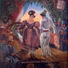 """La Cueca"". (by Johann Moritz RUGENDAS)."