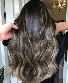 Brown Hair Balayage, Brown Blonde Hair, Balayage Brunette, Hair Color Balayage, Brunette Hair, Hair Highlights, Partial Highlights, Bayalage, Haircolor