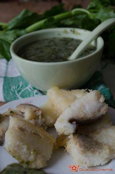 Baccalà in bianco con crema di sedano e patate è un secondo piatto delizioso e facile da preparare.