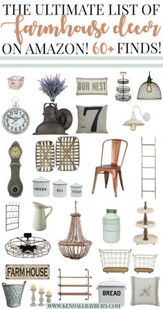 The Ultimate List of Farmhouse Decor on Amazon! SO many adorable & affordable finds!  #affiliate