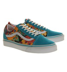 c7fdb5229d2a36 Vans Old Skool Peacock Multi Floral - Hers trainers