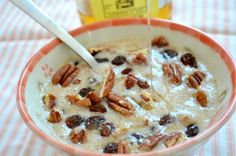 Amaranth hot cereal or you can pop it like popcorn and make a cold cereal!   my new favorite hot cereal. tastes like cream of wheat, but it's a whole grain! yummers!