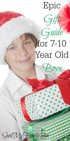 What do you get for a 7 year old boy, an 8 year old boy, a 9 year old boy, or a 10 year old boy! As a mom, shopping for these guys can be tough! But this is the quintessential gift guide for boys 7-10 years old! www.spoilmyfamily.com