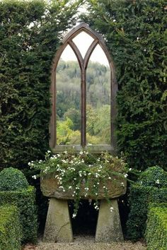 Mirror in the garden - a solution to next doors boring leylandii hedge?