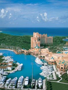 The marina at Atlantis Paradise Island Resort, Bahamas Thanksgiving 2011 I had the opportunity to travel to the Bahamas with my parents and family friends. Dream Vacation Spots, Vacation Places, Vacation Destinations, Places To Travel, Oh The Places You'll Go, Great Places, Beautiful Places, Places To Visit, Yacht Vacations