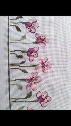 This Pin was discovered by Şen Small Cross Stitch, Cross Stitch Heart, Beaded Cross Stitch, Cross Stitch Borders, Cross Stitch Flowers, Cross Stitch Designs, Cross Stitching, Cross Stitch Embroidery, Hand Embroidery
