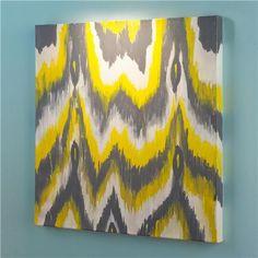 DIY Art Metallic Paint Ikat Chevron Ish Paintings To Hang Above The Sofa