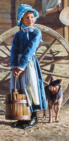 """Prairie Girl"" by Alfredo Rodriguez, American artist, born in Mexico.  Since 1968 recognized for his paintings of the American West."