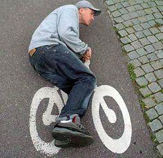 Road Bike. Good laugh