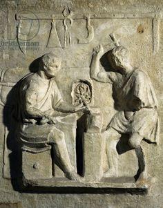 Blacksmiths, bas-relief, Roman civilisation, 2nd century