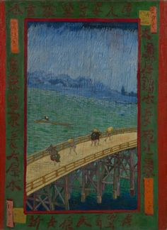 Artist: Vincent van Gogh Title: Japonaiserie: Bridge in the Rain (after Hiroshige) Year: 1887 Medium: Oil on canvas Dimensions: X in. X Current location: Vincent van Gogh Museum, Amsterdam Van Gogh Pinturas, Vincent Van Gogh, Van Gogh Art, Art Van, Art Asiatique, Van Gogh Museum, Van Gogh Paintings, Art Japonais, Dutch Painters
