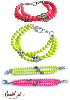 Tutorials Swarovski Neon Pearl Rhinestone Bracelet Handmade Fashion Jewellery – Devoted to DIY Jewellery Diy Jewelry Tutorials, Diy Jewelry Making, Jewelry Crafts, Jewelry Ideas, Beaded Jewelry, Diy Jewellery, Jewelry Design, Beaded Bracelets, Handmade Bracelets