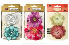 Prima Marketing Fabric Flowers | 50% - 52%  off! Beautiful fabric flowers in multiple colors and designs  $8.99 | $11.99 for a limited time!