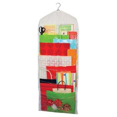Keep+your+craft+supplies,+wrapping+paper,+or+gift+bags+in+order+with+this+pocketed+hanging+organizer.  +  Product:+Organizer...