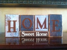 HOME SWEET HOME Wood Block Sign / Home Decor / by WoodnExpressions, $20.00