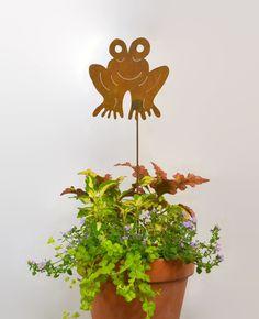 Frog Metal Yard Stake GS30 - Oregardenworks Home and Garden