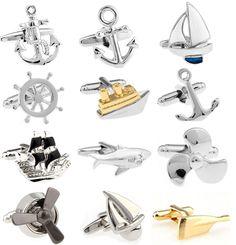 Акция!! мода Запонки серебряный цвет мода якорь дизайн медь материал бесплатная доставка купить на AliExpress