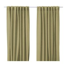 Light green Aina curtains from IKEA, $49.99 for a pair.