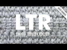 Linked Treble Crochet (LTR):: Crochet Technique :: Right Handed - YouTube